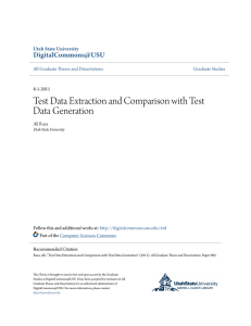 Test Data Extraction and Comparison with Test Data Generation