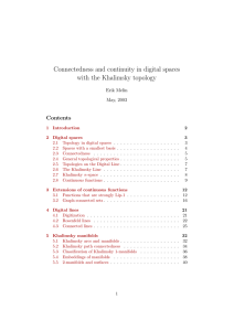 Connectedness and continuity in digital spaces with the Khalimsky