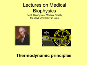 Thermodynamic principles. - med.muni