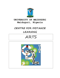 practice exercises/tests - Unimaid, Centre for Distance Learning
