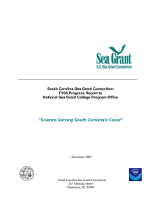 FY04-05 National Sea Grant Progress Report