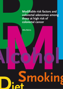 Modifiable risk factors and colorectal adenomas among those at