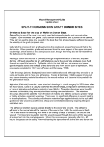 SPLIT-THICKNESS SKIN GRAFT DONOR SITES