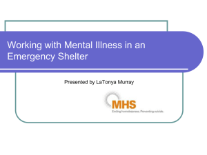 People with Mental Illness in Disaster Shelters