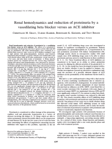 Renal hemodynamics and reduction of proteinuria by a vasodilating