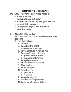 chapter 15 – therapies