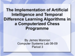 The Implementation of Artificial Intelligence and Temporal Difference
