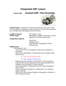 Integrated ART Lesson Ancient ART: The Pyramids The STEP