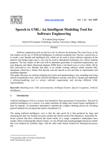 Speech to UML: An Intelligent Modeling Tool for Software Engineering
