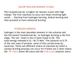 MAJOR NUCLEAR BURNING STAGES The Coulomb barrier is