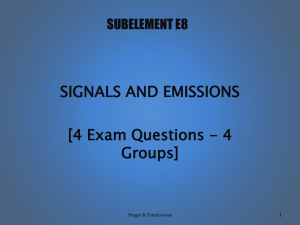 E8 - Signals And Emissions
