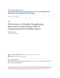 Effectiveness of a Shoulder Strengthening