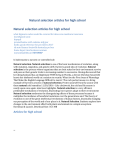 Natural selection articles for high school