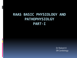 RAAS Basic physiology and Pathophysiolgy