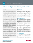 Artificial Intelligence in Teaching and Learning