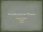 Introduction to Phrases