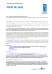 Press Release - UNDP Climate Change Adaptation