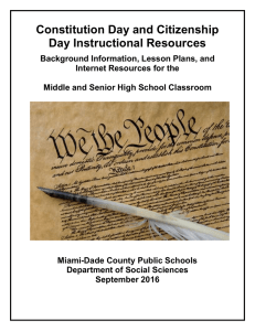 Secondary Constitution Day Resource Guide 2016