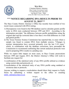 notice regarding dna results prior to august 21, 2015
