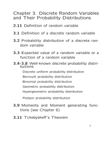 Chapter 3. Discrete Random Variables and Their Probability