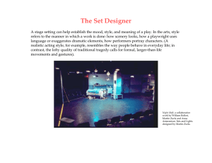 The Set Designer