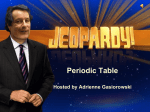 Periodic Table Jeopardy
