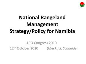 National Rangeland Management