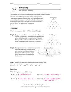 5-7 Reteaching answers