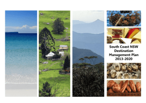 South Coast NSW Destination Management Plan 2013-2020