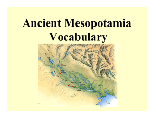 Ancient Mesopotamia Vocab [Compatibility Mode]
