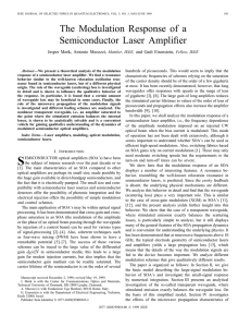 The modulation response of a semiconductor laser amplifier