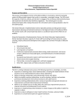 Minnesota Regional Centers of Excellence Position Requirements