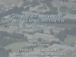 openday-whatweteach - Aberystwyth University Users Site