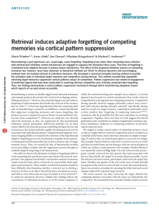 Retrieval induces adaptive forgetting of competing memories via