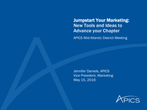 Jump Start Your Meeting - APICS Mid Atlantic District