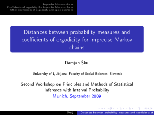 Distances between probability measures and coefficients of