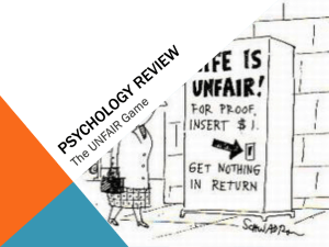 Unfair Review - North Central AP Psychology