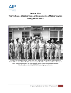 Lesson Plan The Tuskegee Weathermen