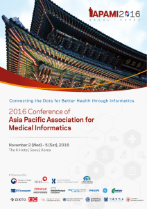 2016 Conference of Asia Pacific Association for Medical Informatics