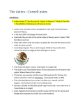 The Aztecs –Cornell notes Vocabulary: Urban Society 2. Class