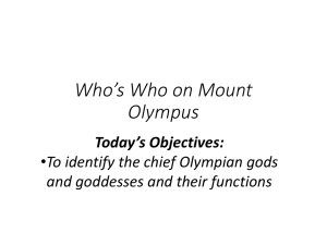 Who`s Who on Mount Olympus - Mrs. Susan Wiggs