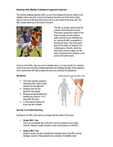 Dealing with Medial Collateral Ligament Injuries