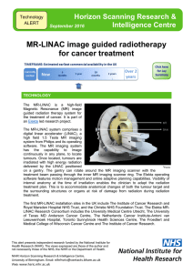 MR-LINAC image guided radiotherapy for cancer treatment