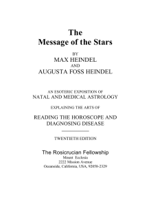 Message of the Stars - The Rosicrucian Fellowship