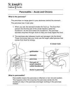 Pancreatitis - Acute and Chronic