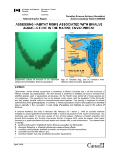 DFO. 2006. Assessing Habitat Risks Associated with Bivalve