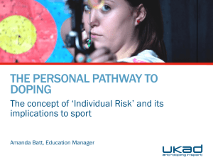 Personal Pathway to Doping Model - Presentation - UK Anti