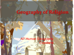 Geography of Religion - Harrison High School