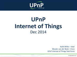 UPnP Internet of Things - Open Connectivity Foundation