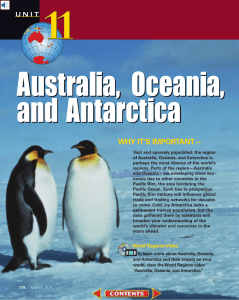 Chapter 32: The Physical Geography of Australia, Oceania, and